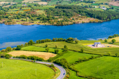 Camlough lake and village south Armagh